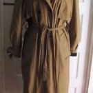 Womens Vintage Portrait Hooded Yellow Checked Houndstooth Belted Trench Coat 4
