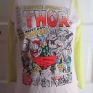 Forever 21 Graphic Tee Thor Marvel Heroes Comic Book Cover Baseball Tshirt Neon