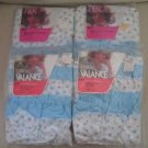 NOS Montgomery Ward Blue Whisp Lot Tiers Valances Fleur Petite Floral Curtains