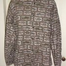 Vintage Woolrich Fish Print Fishing Outdoor Button Up Long Sleeve Shirt Mens L