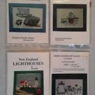 Lot New England Lighthouses Plymouth Rock Counted Cross Stitch Applique Patterns