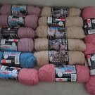 Natura Sayelle Yarn Acrylic 4 Ply Worsted Weight Lot of 14 Skeins Country Colors