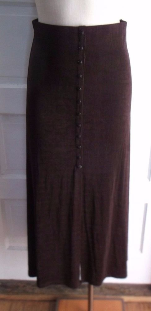Vintage NOS Jaipur Petite Brand Long Maxi Form Fitting Stretch Skirt Women's L