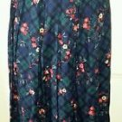 Country Sophisticates Petites by Pendleton Pleated Skirt Womens size 8P Plaid