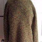 Eileen Fisher Italian Yarn Merino Wool Boucle Knit Turtleneck Sweater Womens L