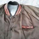 Vintage Cleveland Browns Satin Starter Jacket men's sz M/L Orange Embroidered