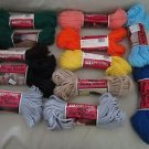 Aunt Lydias Heavy Rug Yarn 3 Ply Polyester Lot of 12 Skeins 60 Yards Each A2871