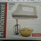 Retro NOS NIB Waring 6 Speed Handmixer HM6-1 White Vintage 2 Beaters Kitchen