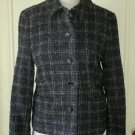 Andrea Viccaro AV wool/cotton blend Tweed/Plaid Jacket Blazer Wonens Sz 6 80885