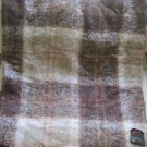 Vintage Country Plaid Scotland Heather Brae Mohair Wool Blanket Tweedvale 69x54