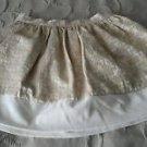 2006 Gymboree Leading Lady Line Satin Velvet Brocade Dressy Skirt Girls 6