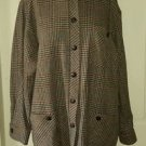 Orvis Wool Button Up Front Stand Collar Plaid Jacket Blazer Coat Size 16 831 USA