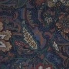 Interior Fabric Design 1986 Jacobean Style Fabric Paisley Flowers Upholstery