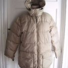 Vintage Lands End Reversible Goose Down Puffer Winter Parka Jacket Coat Womens M