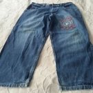 Paco Jeans Embroidered Logo denim blue jeans pants Mens size 34x30