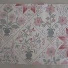 Quaker Downhome Sachet Fabric Sample Tapestry Folk Art Country Primitive Crafts