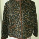Vintage Jones New York Sport Equestrian Bits & Bridle Quilted Jacket Womens sz L