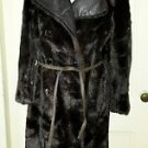 Beekman Place New York Double Breasted Faux Pile Fur/Leather Accents Dress Coat