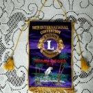 56th Lions International Convention Miami Beach Florida 1973 Souvenier Banner