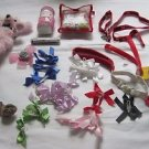 Lot Dog/Cat Build A Bear Accessories Ribbons Leashes Mini Pink Poodle