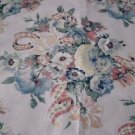 House N Home Fabrics & Draperies 1986 Pastel Floral Screen printed 3 + Yards