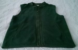 Mens L.L. Bean Superwash wool blend full Zip up Hunting Vest Green Size Large