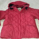 Schuss Original Hooded Quilted Fleece Lined Jacket Boys Kids Girls size 6