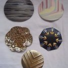 "VINTAGE Lot 5 Charmant Beverly Hills Belt Buckles Various Styles 2.5"" - 4"" Long"