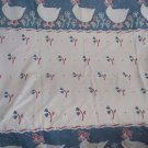Vintage 1987 Country Geese Goose Berry Patch Repeating Pattern Cotton Fabric CHD