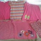 Hanna Andersson Lot Summer Jersey Knit shirts Shorts Girls 160 16 18 Butterflies