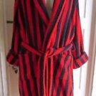 Vintage Lands End Terry Cloth Smoking Jacket Coat Robe Dressing Gown Sash Mens M