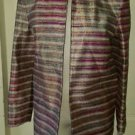 NWT Bleyle Metallic Wrap Shrug Open Front Jacket Blazer Womens 8 USA NOS Sparkly