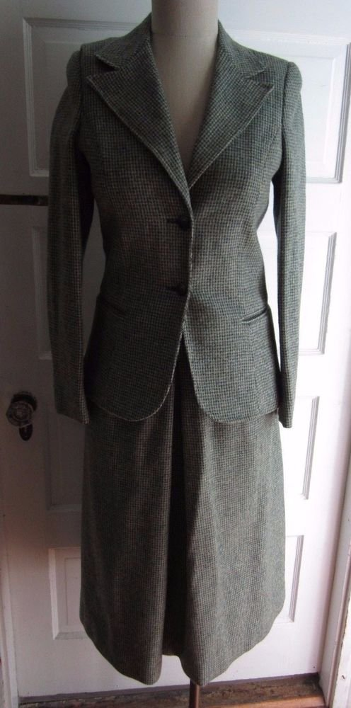 Womens Gordon of Philadelphia Winter Wool Mid Century Blazer Jacket Skirt Suit 6