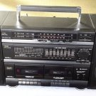 KLH-508 Hi-Fi Portable Stereo 7 Band Equalizer Dual Cassette Tape Deck Boombox