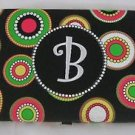 "MSC Mainstreet Collection Monogrammed ""B"" Wallet Dots Circles Metal Clasp Hinged"