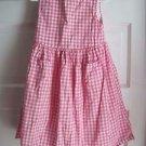 Girls 5 Baby Gap Kids Pink Gingham Checked Ric Rac 100% Cotton Dress & Bloomers