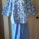 NOS Blair Pajamas Shirt Pant Set Sleepwear PJ's Womens sz 18W 152605 Lace Print