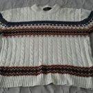 Vintage 70's/80's JC Penney Cable Knit Sweater Aztec/Cowboy Design Mens L Taiwan