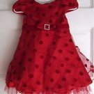 Baby Girls 18M Youngland Velvet Tulle Polka Dotted Party Formal Holiday Dress