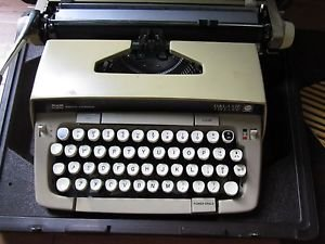 Vintage Yellow Smith Corona Galaxie Twelve XII 12 Manual Typewriter + Hard Case