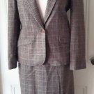 Womens Miss Pendleton Wool Houndstooth Plaid Blazer Jacket Skirt Suit 9 10 USA