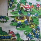 VINTAGE Lot of 2 Handmade SMURFS VALANCES Curtains Peyo PAPA SMURF House 1980s