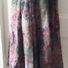 Geiger made in Austria Pleated Wool long Floral Tapestry Look Skirt womens sz 36