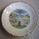 Vintage North Dakota Porcelain Trinket Dish Ashtray Travel Memorabilia Souvenir