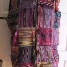 JouJou Colorful Madras Plaid Patchwork Full Zip Up Woven Vest Jacket Womens L