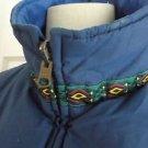 Vintage Women's Nordica Sportsystem Reversible Zip Down Vest Aztec Tribal Trim M