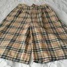 VINTAGE NOS Tartan Scotch Plaid Gouchos Pants Capris Womens sz 11/12 Union Made