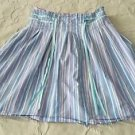 Old Navy Cotton Pinstriped Ribbon A-Line Pleated Skirt womens Juniors sz 0 zero