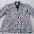 Pendleton 100% wool plaid blazer button-front JACKET coat womens 8 Made in USA