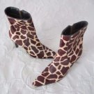 LRL Ralph Lauren Medora Giraffe Print Calf Hair Fur Ankle Zip Up Boots Womens 6